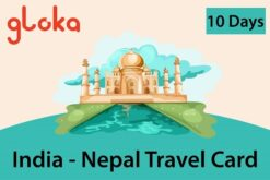 India-Nepal travel sim card 6GB Gloka