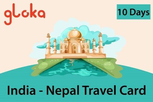 India-Nepal travel sim card 6GB Gloka