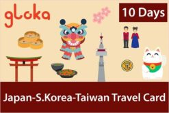 Japan Korea Taiwan travel sim card gloka