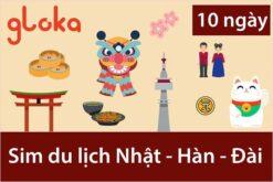 Sim du lịch Nhật Hàn Đài Loan