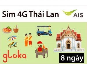 Sim du lịch Thái Lan 4G AIS Gloka
