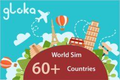 global sim card 60+ countries gloka