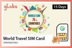 world sim card 75+ countries gloka