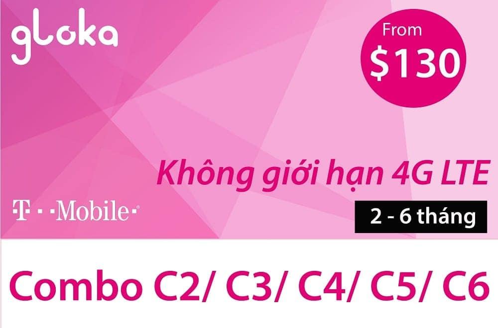 Sim thuê bao trả trước T-Mobile Mỹ | GLOKA-USA SIM