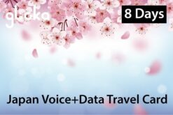 Japan Voice and data travel sim card Gloka