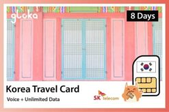 Korea travel card voice and data, receive in Vietnam