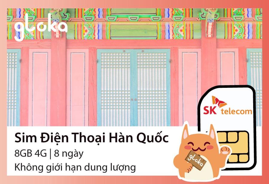 Sim điện thoại Hàn Quốc SK Telecom Gloka