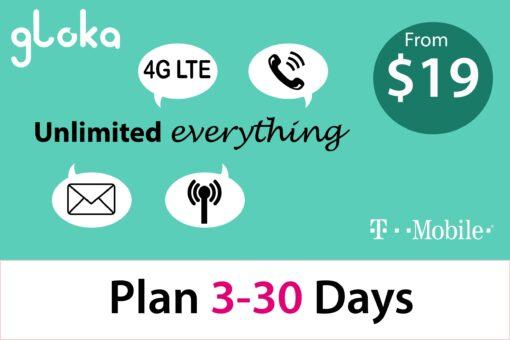 Sim 4g Mỹ T-Mobile 3-30 Ngày