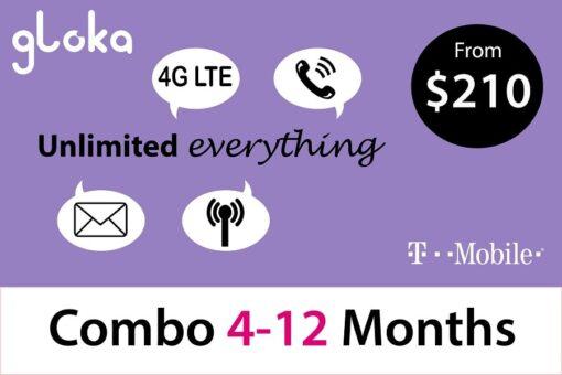 Sim Mỹ T-Mobile Combo 4-12 tháng