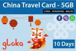 China 4G sim card china unicom 10 days gloka