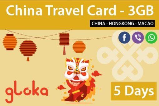 China prepaid sim card china unicom 5 days gloka