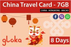 China data sim card 8 days china unicom Gloka