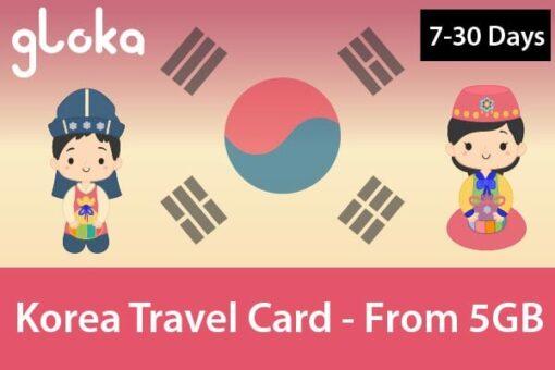 Sim 4G Hàn Quốc 5GB-20GB