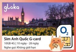 Sim 4G Anh Quốc G-card Gloka