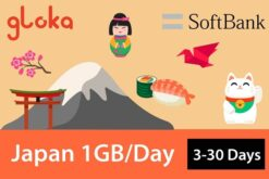 Japan travel sim card 1GB/day Gloka