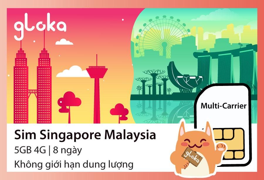Sim du lịch Singapore Malaysia Gloka