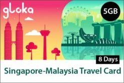 Singapore Malaysia Prepaid SIM Card 5GB 8 days
