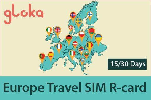 Sim 4G châu Âu R-card