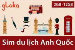 Sim du lịch Anh Quốc Three UK