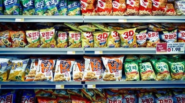 Snack bán tại emart