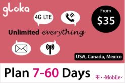 North America Travel sim card USA Canada Mexico 7-60 days
