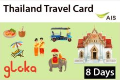 thailand travel sim card AIS 8 days Gloka