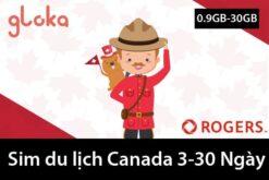 sim du lịch Canada 3-30 ngày gloka