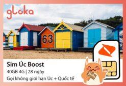 Sim 4G Úc Boost Gloka