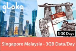 Singapore Malaysia travel sim card 3gb/day gloka