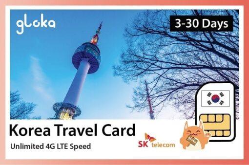 Sim du lịch Hàn Quốc 4G Không Giới Hạn 200GB