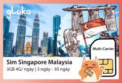 Sim 4G Malaysia Singapore Gloka