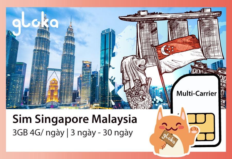 Sim 4G Singapore Malaysia Gloka