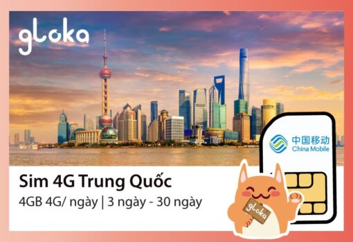 Sim 4G Trung Quốc 4GB:ngày
