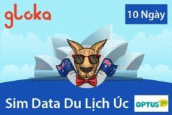 Sim Data du lịch Úc optus 10 ngày