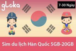 Sim data 4G Hàn Quốc 5GB-20GB