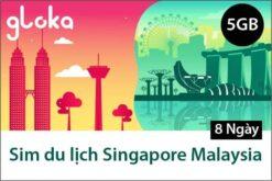 Sim du lịch Singapore Malaysia không giới hạn dung lượng 8 ngày