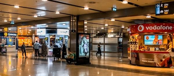 Sim Thổ Nhĩ Kỳ mua tại sân bay Istanbul SAW