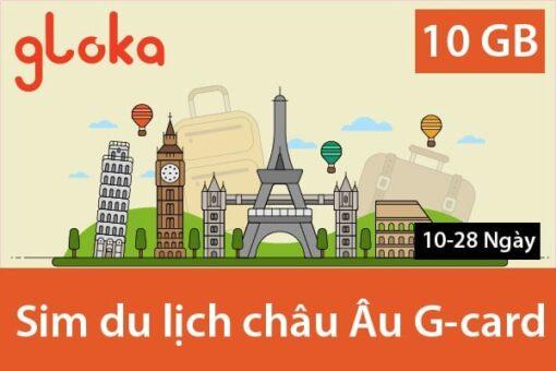 Sim du lịch châu Âu G-card sóng O2