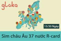 Sim du lịch châu Âu 37 nước R-card
