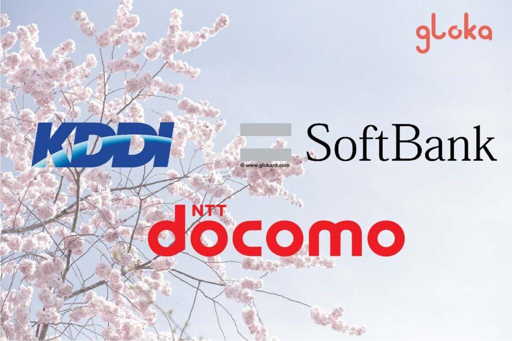 So sánh 3 nhà mạng lớn nhất nhật bản docomo softbank KDDI