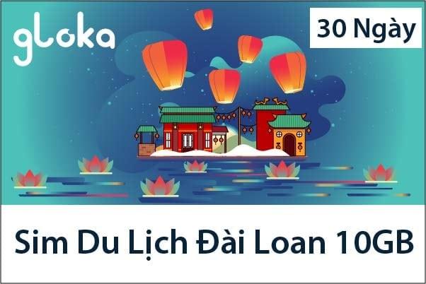 Sim Du Lịch Đài Loan 10GB 30 Ngày