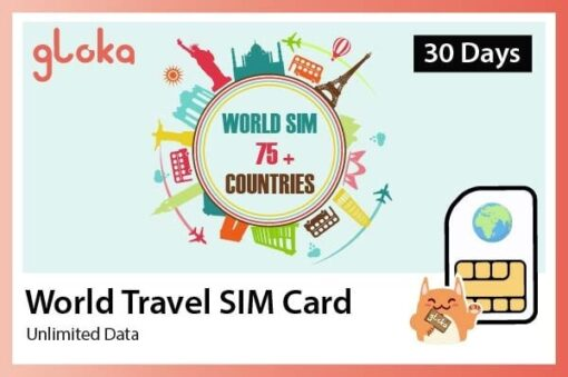 Sim 4G Quốc tế 75 nước 30 ngày