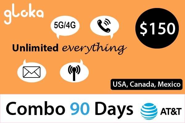 Sim Mỹ định cư dài hạn AT&T combo 3 tháng