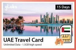 Dubai - UAE Travel sim card unlimited data Gloka