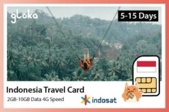 indonesia travel sim card 2GB to 10GB Gloka
