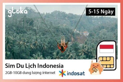 Sim du lịch Indonesia 2GB-10GB Gloka
