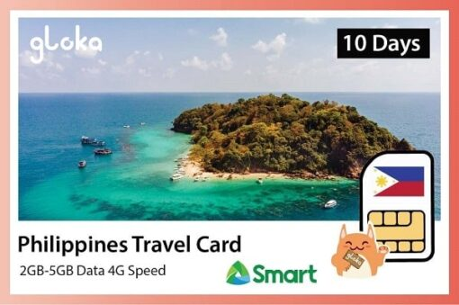 Philippines travel sim card 2GB - 5GB Gloka