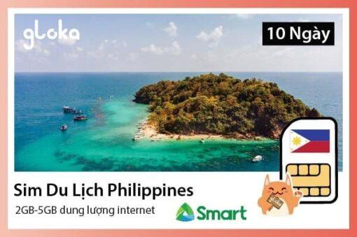 Sim du lịch Philippines Gloka