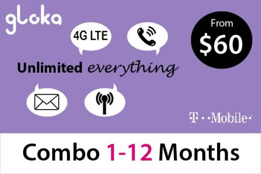 USA SIM Card long term combo 1-12 months