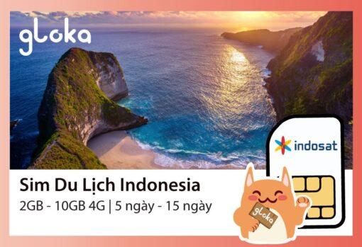 Sim du lịch Indonesia Indosat Gloka